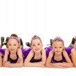 Stock Photo: Junior Petite Tap Dance Kids Group