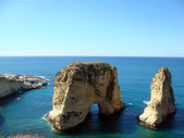Rouche sea front of beirut the capital city of lebanon — Stock Photo