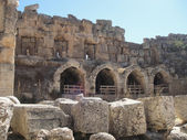 Baalbek ruins - seen morning time — Stock Photo