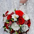 Wedding bouquet of red and white flowers — Stock Photo #15766285