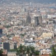 Aerial view of Barcelona city — Stock Photo