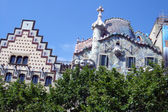 Facade of Casa Battlo in Barcelona, Spain. — Stock Photo