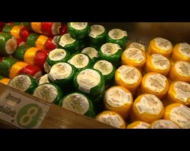 Käse-runden — Stockvideo