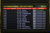 International Departures — 图库照片