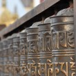 图库照片: Prayer wheel, wheel in Buddhism