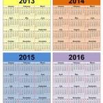 Takvim yıl 2013-2020 — Stok fotoğraf #12698299