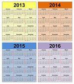 2013-2016 — Stock Photo