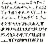 Sport silhouettes — Stock Photo