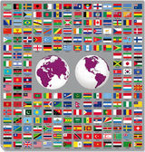 Flags of the world 2014 — Stock Vector
