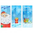 Set of Christmas cards with Santa — Stock Vector