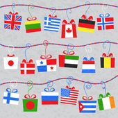 Gifts from around the world — Stock Vector
