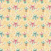Nahtlose Muster mit Kritzeleien Geschenkboxen — Stockvektor