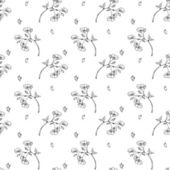 Seamless pattern apple tree branch little — Cтоковый вектор
