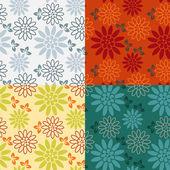 Set of Seamless vintage pattern. Retro style. — Stock Vector