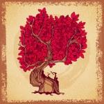 Retro tree tattoo crown — Stock Vector #29340799