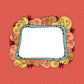 Retro ornamental frame on red background — Stock Vector