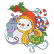 Christmas snowman — Stock Vector #35541473