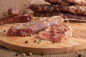 Dried sausages — Stock Photo