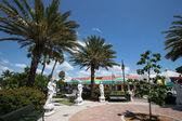 ベニスの正方形に彫刻フロリダ — ストック写真