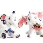 Two elephant of porcelain — Stock Photo #48891883