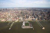 View over Manhattan from helicopter  — Stock fotografie