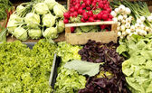 Vegetables on a market — Stock Photo