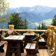 Stock Photo: Café in mountains