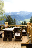Café in the mountains — Stok fotoğraf