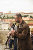 Street musician — Stock Photo