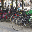 Stock Photo: Street bicycle parking