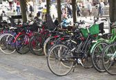 Street bicycle parking — Stock Photo
