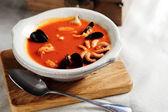 Bouillabaisse, französische Fischsuppe — Stockfoto