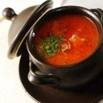 Ukrainian borscht — Stock Photo