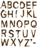 Förstörda cigaretter alfabetet — Stockfoto