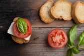 Italian canape — Stock Photo