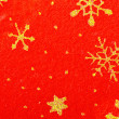 Christmas stars on the red background — Stock Photo