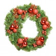 Stock Photo: Decorative christmas wreath