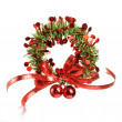Decorative christmas wreath — Stock Photo #15611323