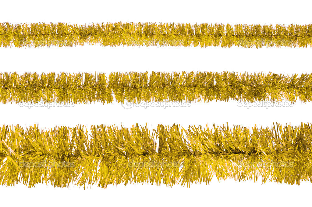 Tinsel isolated on a white background — Zdjęcie stockowe #15610325
