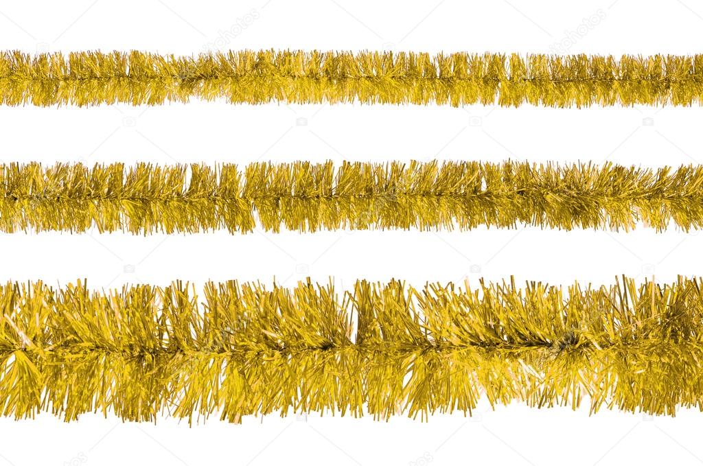 Tinsel isolated on a white background — Stock fotografie #15610325