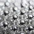 Abstract silver balls as background — Stock Photo