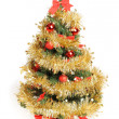 Decorated Christmas tree — 图库照片