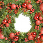 Decorative christmas wreath — Stock Photo