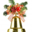 Stock Photo: Christmas bell isolated