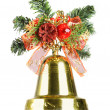 Christmas bell isolated — Stock Photo