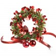 Decorative christmas wreath - Stock Photo
