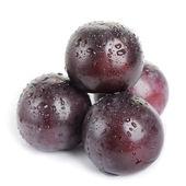 Plum fruit with dew — Stock Photo