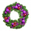 Stock Photo: Loaded Christmas wreath