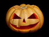 Halloween pumpkin scary face — Stock Photo