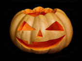 Halloween pumpkin scary face — Stock Photo